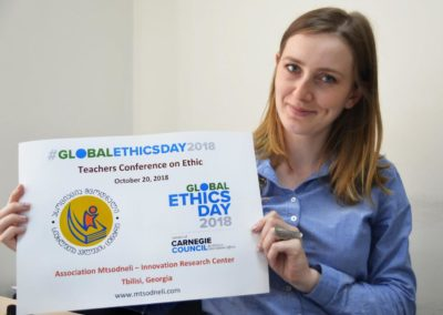 "Celebrating Global Ethics Day 2018 at Association ""Mtsodneli"" - Innovation Research Centre in Tbilisi, Georgia."