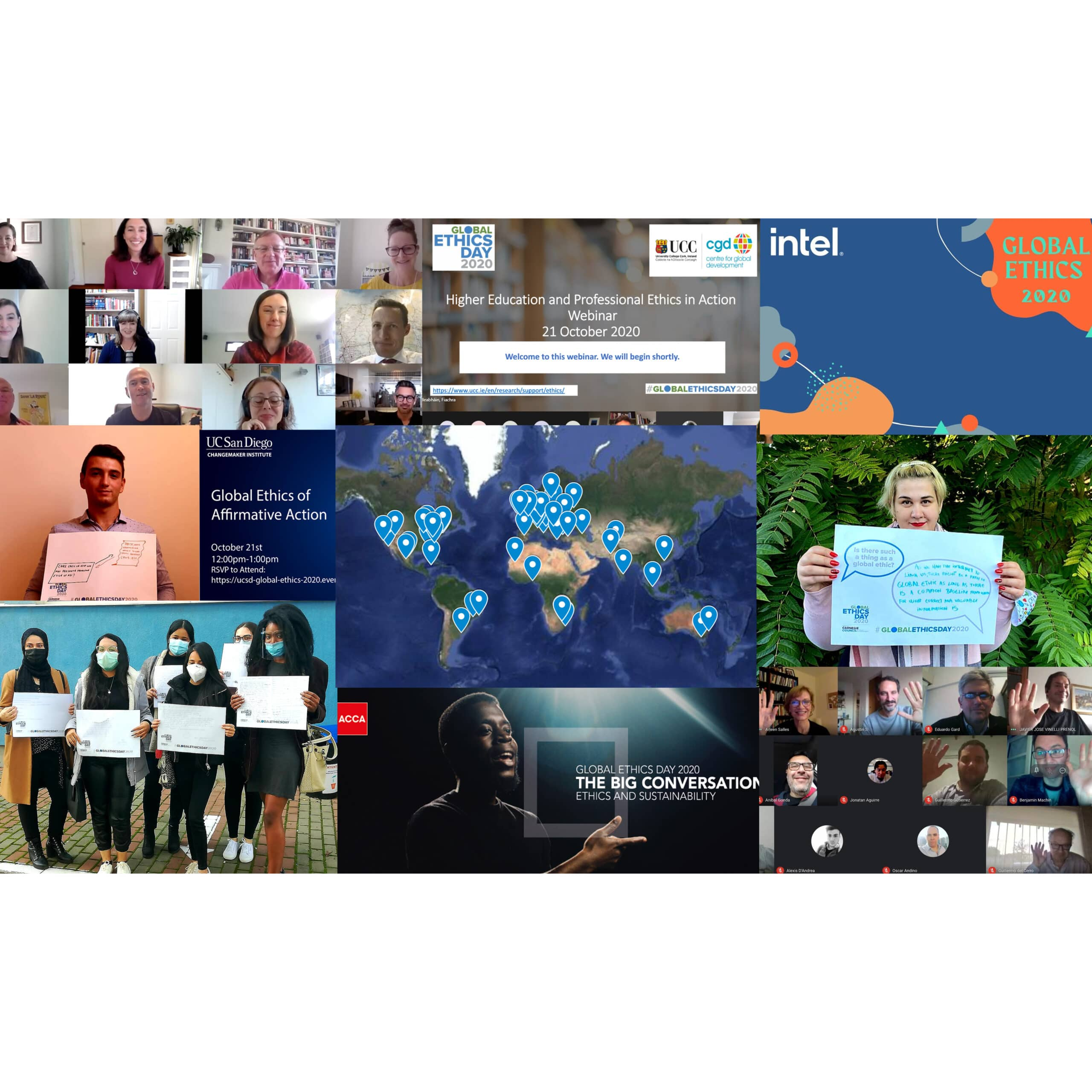 Global Ethics Day 2020 montage.